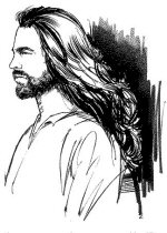Jesus with long hair